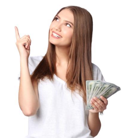 万ドル ベットの女性